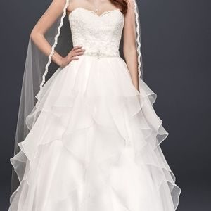 Soft white plus size wedding dress